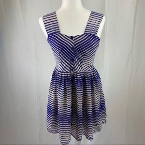 Delias striped sleeveless spring dress